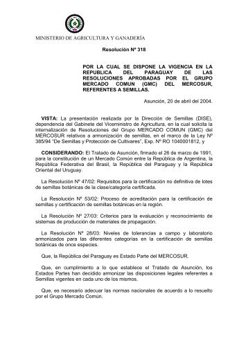 Resolución Nº 318 - Aprosemp