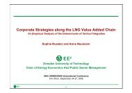 Corporate Strategies along the LNG Value Added Chain