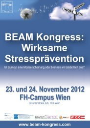 BEAM Kongress: Wirksame Stressprävention - Gamed