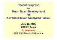 Recent Progress in Muon Beam Development for Advanced Muon ...