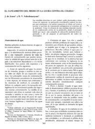 EL SANEAMIENTO DEL MEDIO EN LA LUCHA CONTRA EL COLERA