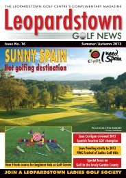 Pictured - Backspin Golf Magazine