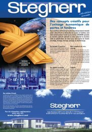 a des solutions innovantes - Stegherr