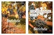 Jahresprogramm 2011 - Steichele