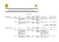 Listado de proyectos PCI 2011 preseleccionados - Universidade da ...