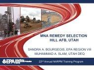 MNA REMEDY SELECTION HILL AFB, UTAH - NARPM 2012