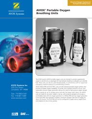 AVIOX Portable Oxygen Breathing Units - AVOX Systems, Inc.
