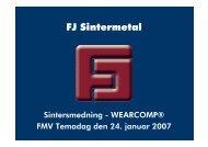 FJ Sintermetal - FMV