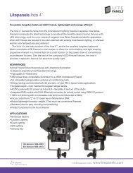 DMX-controllable LED Fresnel - Litepanels