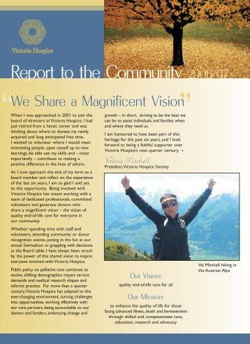 2006 / 2007 Annual Report - Victoria Hospice