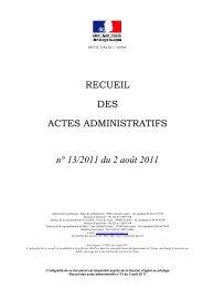 Recueil n°13 du 2 août 2011 - Les services de l'État dans l'Yonne