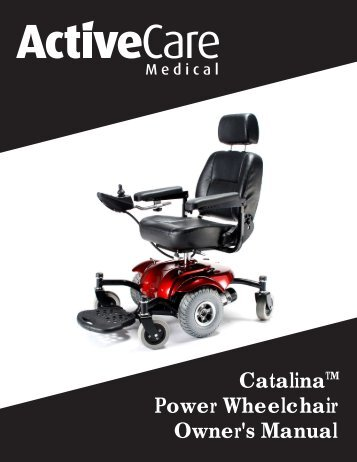 Catalina Power Wheelchair Owner's Manual