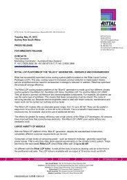 "RITTAL LCP PLATFORM OF THE ""BLUE E ... - CeBIT Australia"
