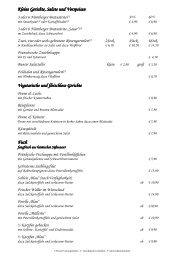 Kleine Gerichte Kleine Gerichte, Salate und Vorspeisen ... - Steichele