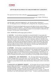SOFTWARE DEVELOPMENT KIT (SDK) DISTRIBUTION ...