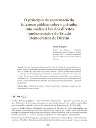 O princípio da supremacia do interesse público ... - Revista do TCE