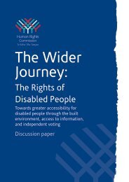 The Rights of Disabled People - Human Rights Commission
