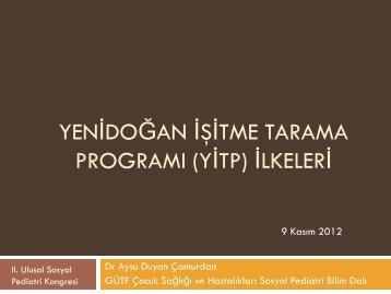 Yenidoğan İşitme Tarama Programı ( YİTP ) İlkeleri - Sosyal Pediatri ...