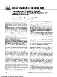 c linical investigations in critical care - CHEST Publications