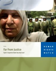 Far From Justice - Human Rights Watch