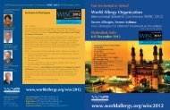 WAO International Scientific Conference WISC-2012 6-9 - Executive ...