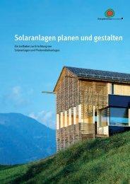 Solaranlagen planen und gestalten