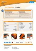 Rail Tile Saw TR250 H - Norton Construction Products - Page 2