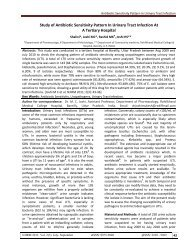 Study of Antibiotic Sensitivity Pattern In Urinary Tract Infection At A ...
