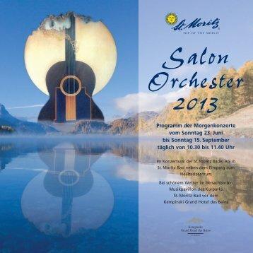 Salon Orchester 2013 - Engadin St. Moritz