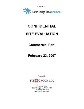 CONFIDENTIAL - Baton Rouge Area Chamber
