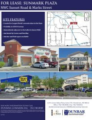 FOR LEASE: SUNMARK PLAZA NWC Sunset Road ... - Property Line
