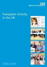 Transplant Activity in the UK 2008-2009 - Organ Donation