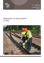 Radanpidon turvallisuusohjeet (TURO) - Liikennevirasto