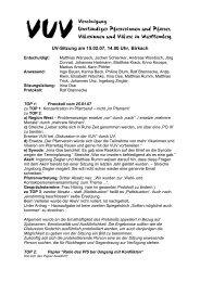 UV-Sitzung am 15.02.07, 14.00 Uhr, Birkach - VUV