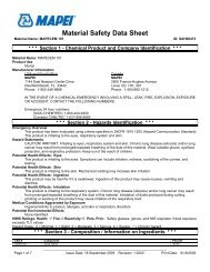 Mapecem 101 - MSDS - T and A Supply Company, Inc.