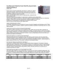 FILTRE ELECTROSTATICE PENTRU BUCATARII PROFESIONALE
