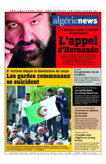 Fr-29-06-2013 - Algérie news quotidien national d'information