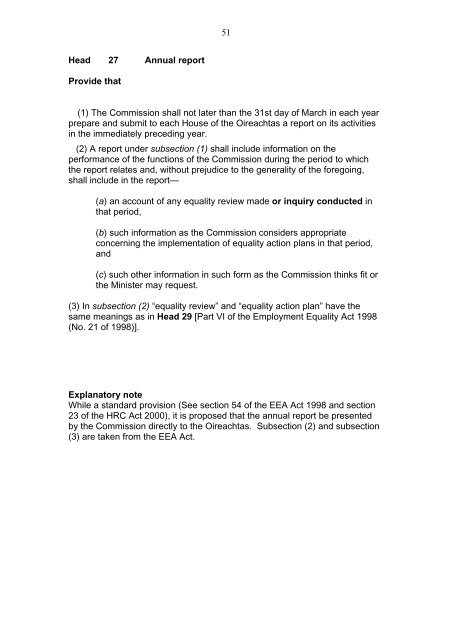 Heads of Irish Human Rights and Equality Commission Bill 2011