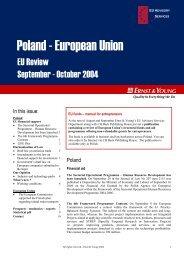 Poland - European Union - Ernst & Young
