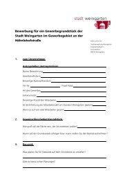 Bewerbungsbogen - Stadt Weingarten