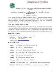 nuostatai - Lietuvos žirginio sporto federacija