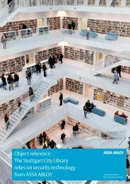 to download the Stuttgart City Library PDF - Assa Abloy