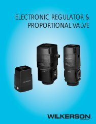 electronic regulator & proportional valve - Wilkerson Corporation
