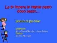 La 5ª impara le regole passo dopo passo… - USP di Piacenza