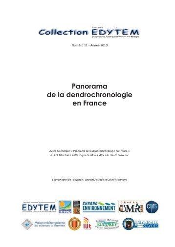 Panorama de la dendrochronologie en France - Edytem - Université ...