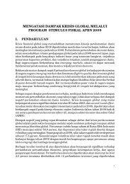 Mengatasi Dampak Krisis Global Melalui Program Stimulus Fiskal ...