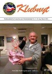 Klubblad marts 2012 - Frederiksværks Motorbådsklub