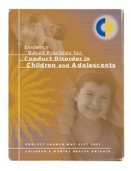 Evidence Based Practices for Conduct Disorder in Children and ...