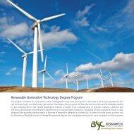 Renewable Generation Technology Degree Program