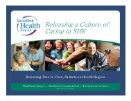 Releasing a Culture of Caring in SHR - Health Care Quality Summit